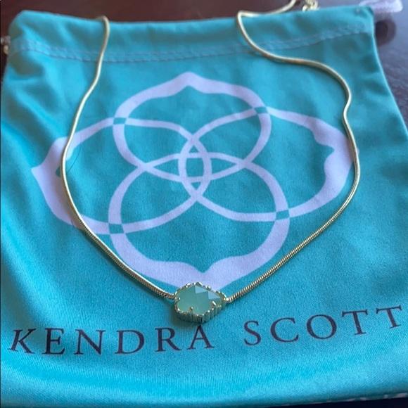 Kendra Scott Chalcedony Mara Necklace